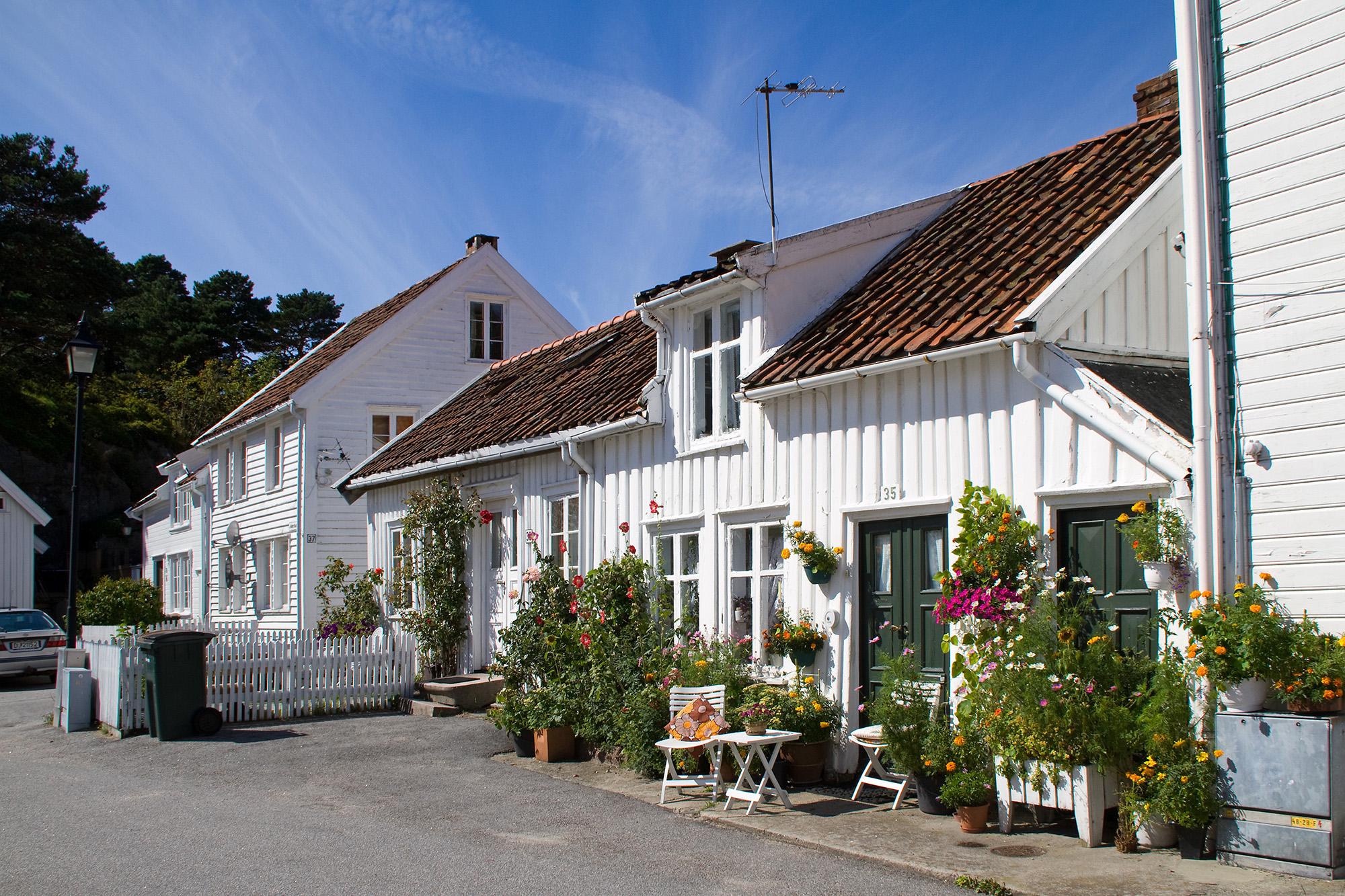 Johnstons gate i Mandal sentrum. Foto: Tor Anders Madsen.